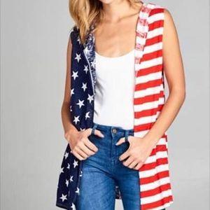 American flag cardigan 🇺🇸